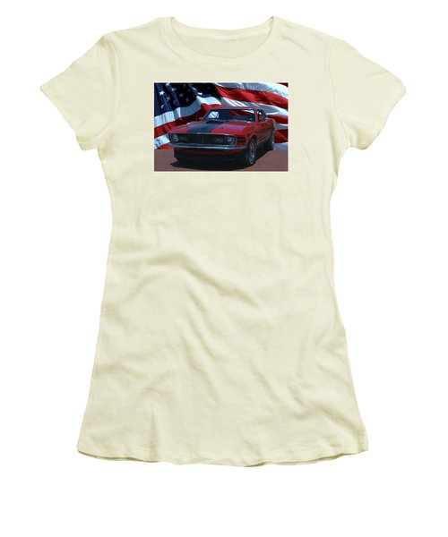 1970 Mustang Mach I Women's T-Shirt (Junior Cut) by Tim McCullough