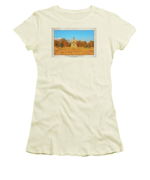 1st New York Battery D Gettysburg Poster Women's T-Shirt (Athletic Fit)