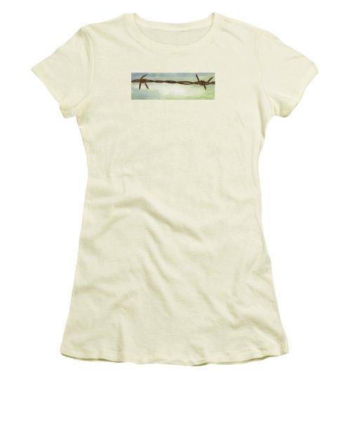 Auschwitz Women's T-Shirt (Junior Cut) by Annemeet Hasidi- van der Leij
