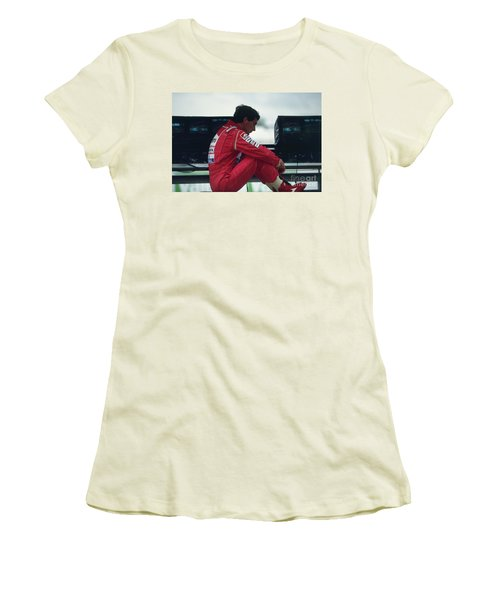 Ayrton Senna. 1992 French Grand Prix Women's T-Shirt (Athletic Fit)