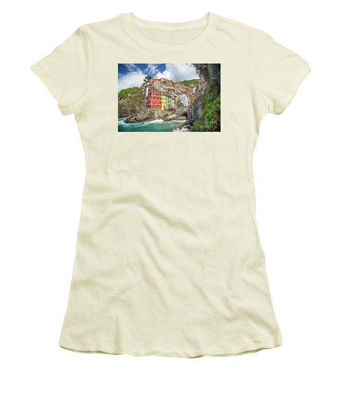 Colors Of Cinque Terre Women's T-Shirt (Junior Cut) by JR Photography