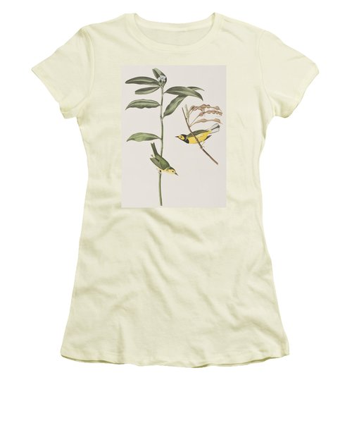 Hooded Warbler  Women's T-Shirt (Athletic Fit)