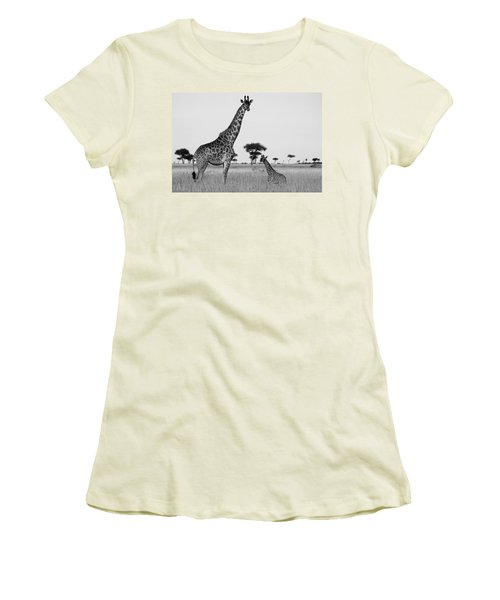 Meet My Little One Women's T-Shirt (Athletic Fit)