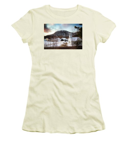 Women's T-Shirt (Junior Cut) featuring the photograph Stark New Hampshire by Robert Clifford