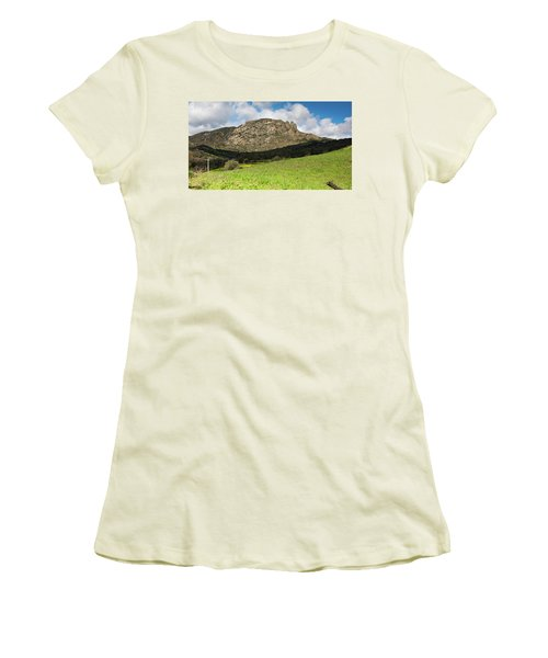 The Three Finger Mountain Women's T-Shirt (Junior Cut) by Bruno Spagnolo