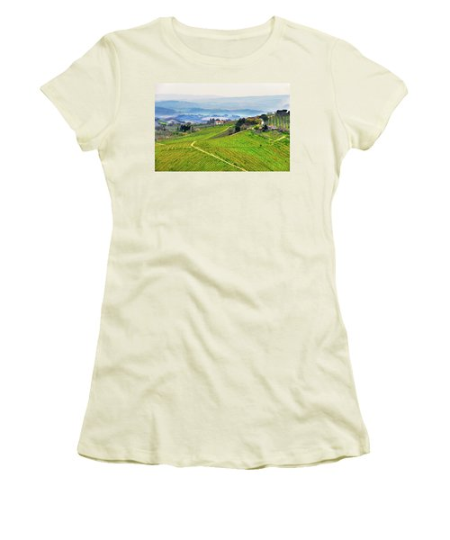 Tuscany Landscape Women's T-Shirt (Athletic Fit)
