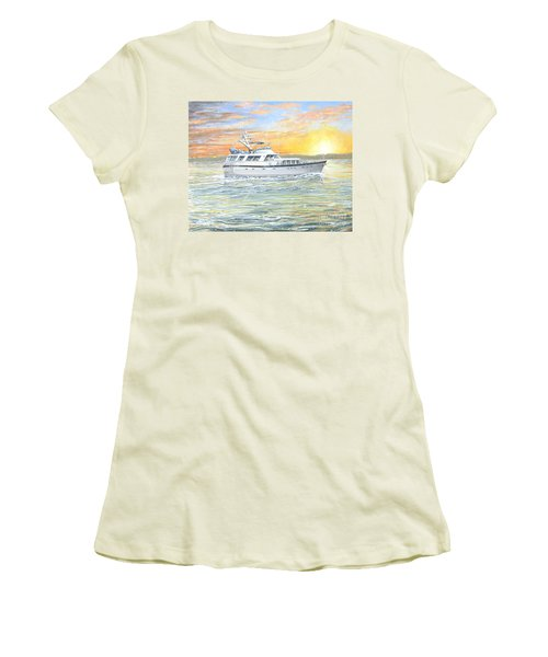 Women's T-Shirt (Junior Cut) featuring the painting Untitled by Bob George