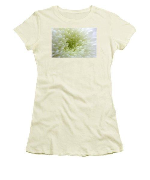 White Chrysanthemum Women's T-Shirt (Athletic Fit)