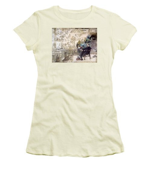 Charles Dickens (1812-1870) Women's T-Shirt (Athletic Fit)