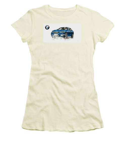 2014 B M W 2 Series Coupe With 3d Badge Women's T-Shirt (Junior Cut) by Serge Averbukh