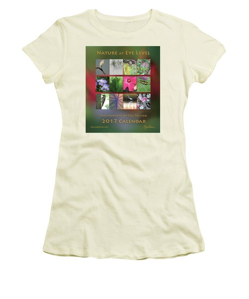 2017 Nature Calendar Women's T-Shirt (Junior Cut) by Peg Toliver