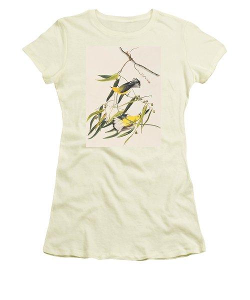 Prothonotary Warbler Women's T-Shirt (Junior Cut) by John James Audubon