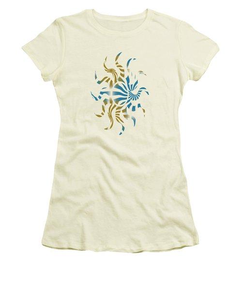 3d Spiral Pattern Women's T-Shirt (Athletic Fit)