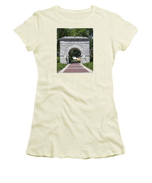 Camp Randall Memorial Arch - Madison Women's T-Shirt (Athletic Fit)