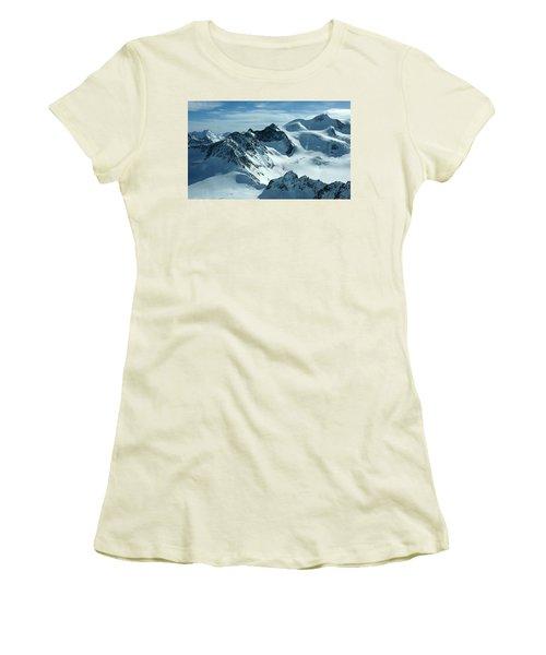 Women's T-Shirt (Junior Cut) featuring the photograph Pitztal Glacier by Christian Zesewitz