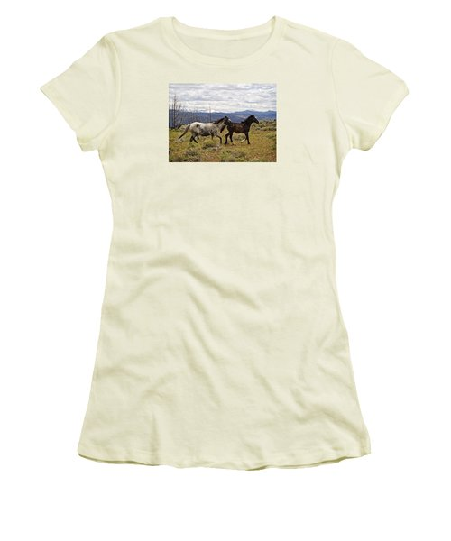 Wild Mustang Horses Women's T-Shirt (Athletic Fit)