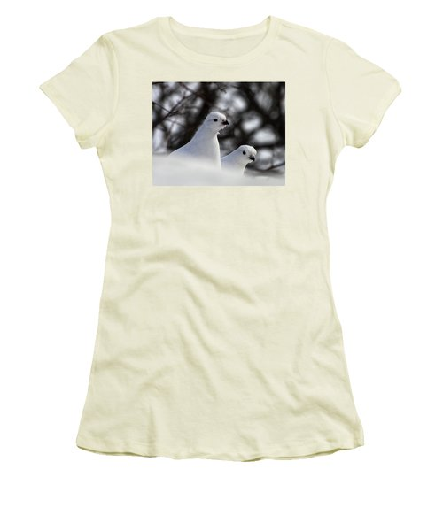 Willow Ptarmigan Women's T-Shirt (Athletic Fit)
