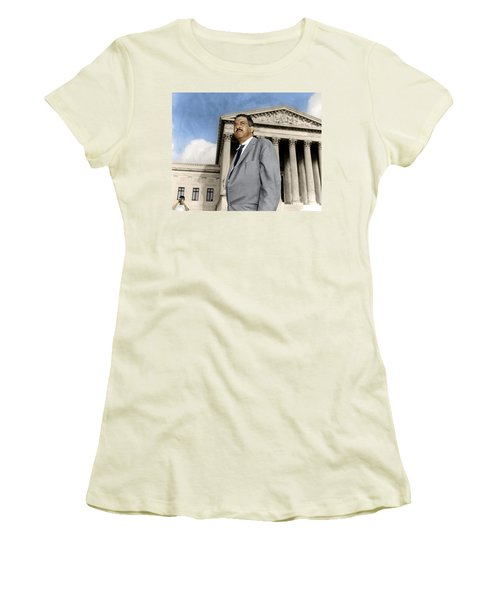 Women's T-Shirt (Athletic Fit) featuring the photograph Thurgood Marshall by Granger