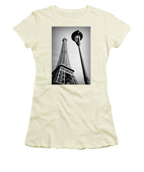 Eiffel Tower Women's T-Shirt (Junior Cut) by Chevy Fleet