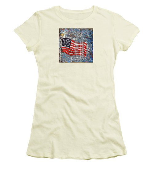 9/11 Tribute Women's T-Shirt (Athletic Fit)