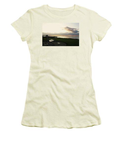 A Bench For Percy Women's T-Shirt (Junior Cut) by Martina Fagan