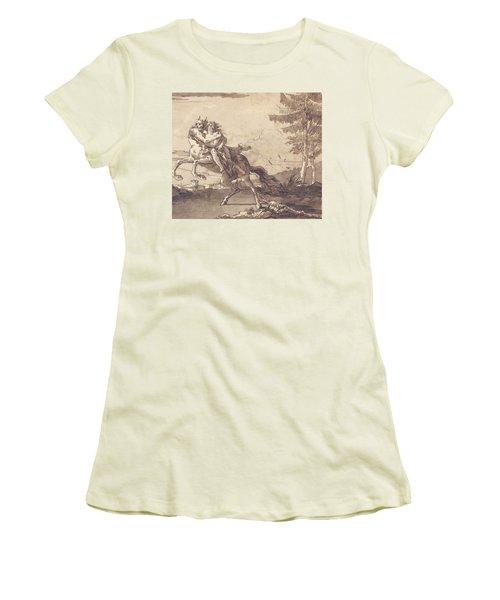A Centaur Abducting A Nymph Women's T-Shirt (Athletic Fit)
