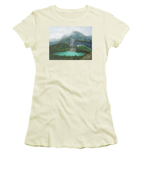 A Day In Glacier National Park Women's T-Shirt (Athletic Fit)