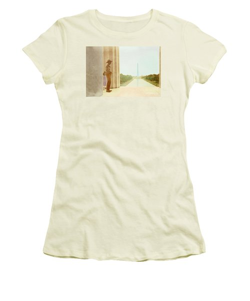 A Girl Suddenly Appears Women's T-Shirt (Athletic Fit)