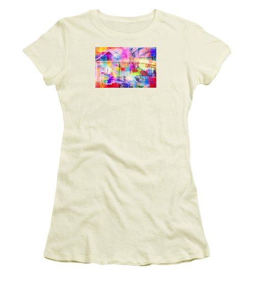 Wayzata Collage Women's T-Shirt (Junior Cut) by Susan Stone
