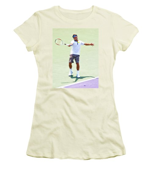 A Hug From Roger Women's T-Shirt (Athletic Fit)