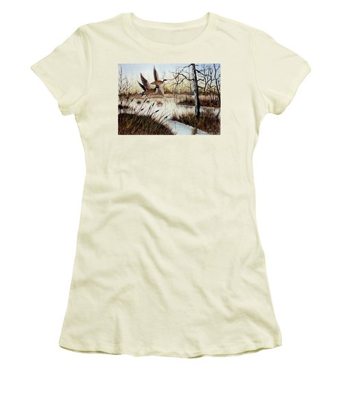 A 'jerry Yarnell' Study Women's T-Shirt (Junior Cut) by Jimmy Smith