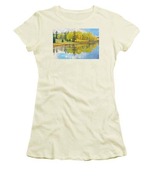 A Lakeside Willowwacks  Women's T-Shirt (Junior Cut) by Bijan Pirnia