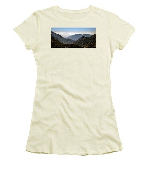 A Lofty View Women's T-Shirt (Junior Cut) by Ed Clark