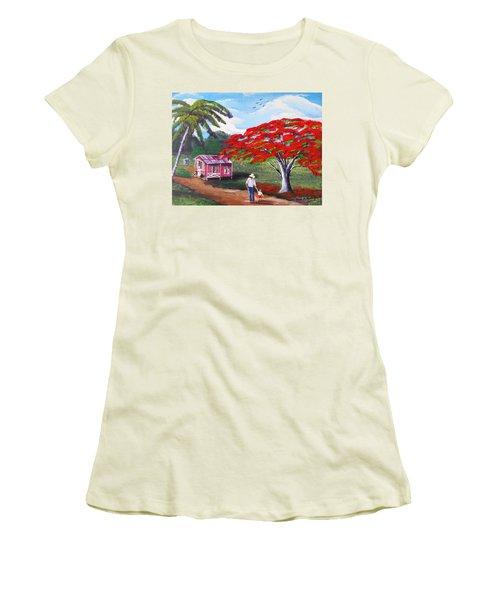 A Memorable Walk Women's T-Shirt (Athletic Fit)