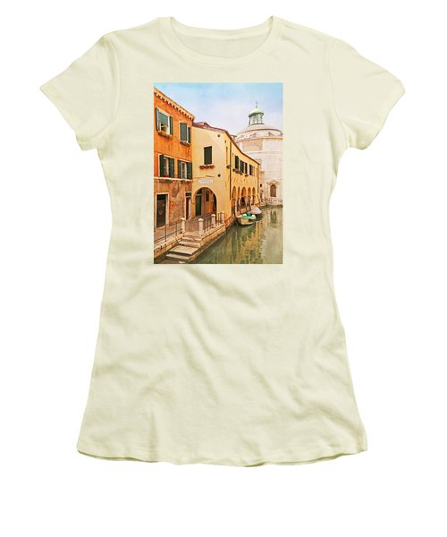 A Venetian View - Sotoportego De Le Colonete - Italy Women's T-Shirt (Junior Cut) by Brooke T Ryan