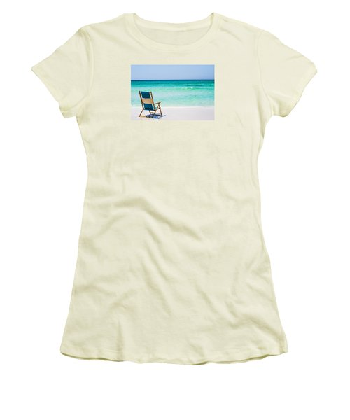 A View Of The Ocean Women's T-Shirt (Junior Cut) by Shelby  Young