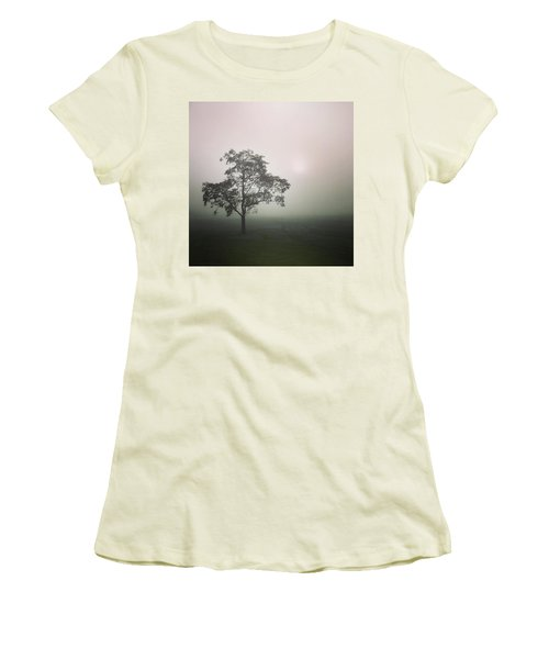 A Walk Through The Clouds #fog #nuneaton Women's T-Shirt (Junior Cut) by John Edwards