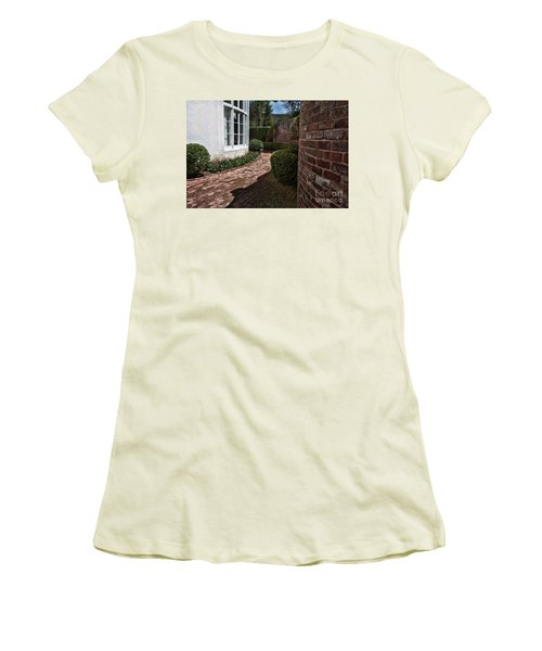 Women's T-Shirt (Junior Cut) featuring the photograph A Walk Through The Greenbrier by Laurinda Bowling