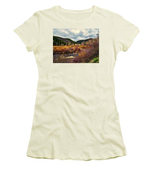 A Wyoming Autumn Day Women's T-Shirt (Junior Cut) by L O C