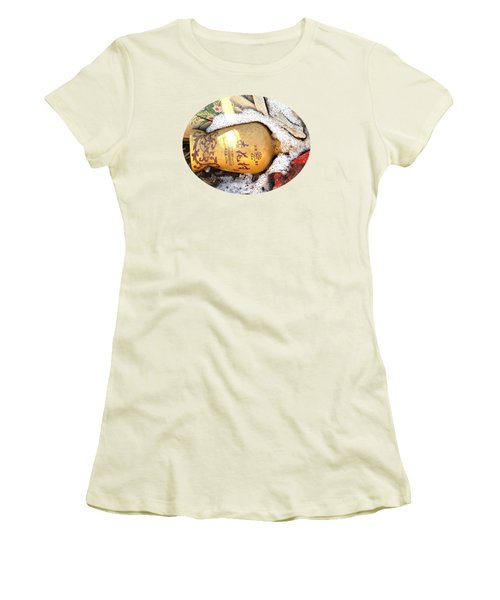 Women's T-Shirt (Junior Cut) featuring the photograph Abandoned Bottle by Ethna Gillespie