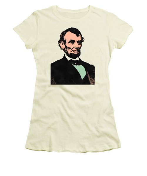 Abe Lincoln 2 Women's T-Shirt (Junior Cut) by Otis Porritt