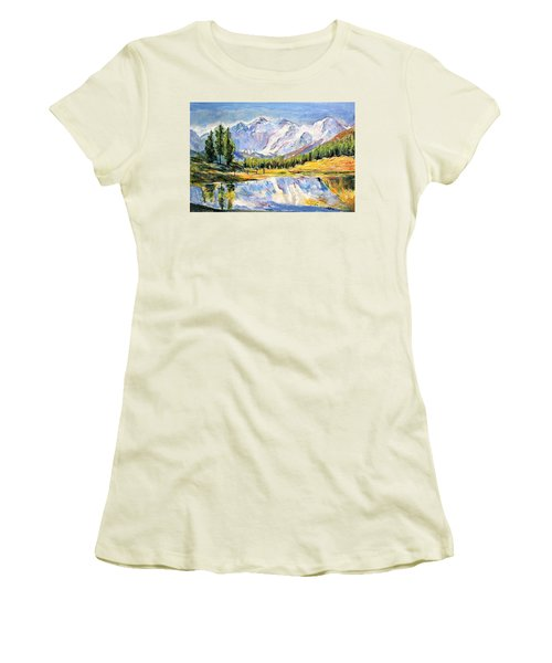 Above The Sea Level Women's T-Shirt (Athletic Fit)