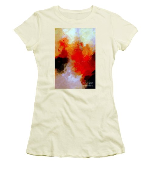 Women's T-Shirt (Athletic Fit) featuring the digital art Abstract 1909f by Rafael Salazar