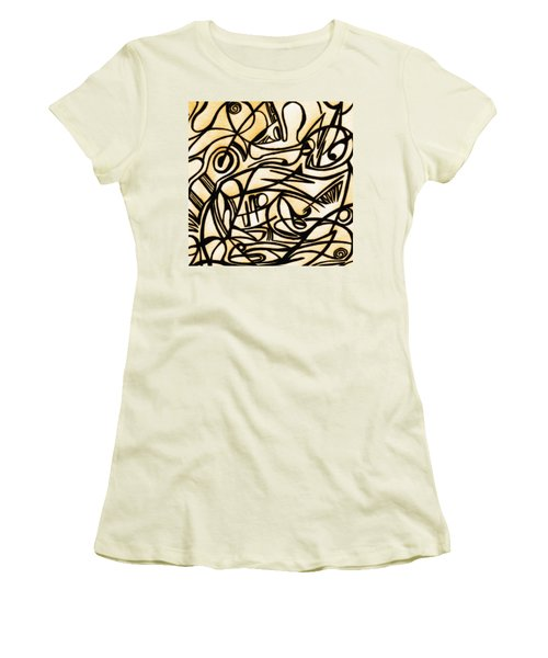 Abstract Art Gold 2 Women's T-Shirt (Athletic Fit)