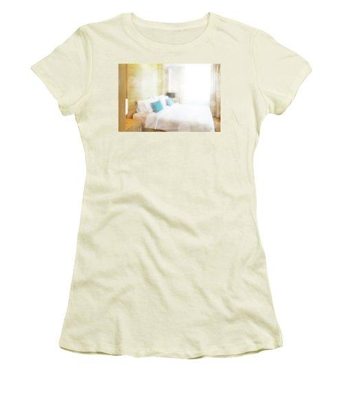 Women's T-Shirt (Junior Cut) featuring the photograph Abstract Bedroom by Atiketta Sangasaeng