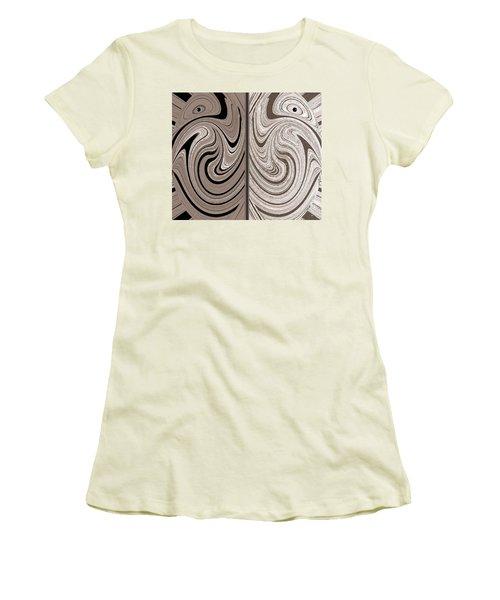Abstract Desert Raptors Women's T-Shirt (Junior Cut) by Will Borden