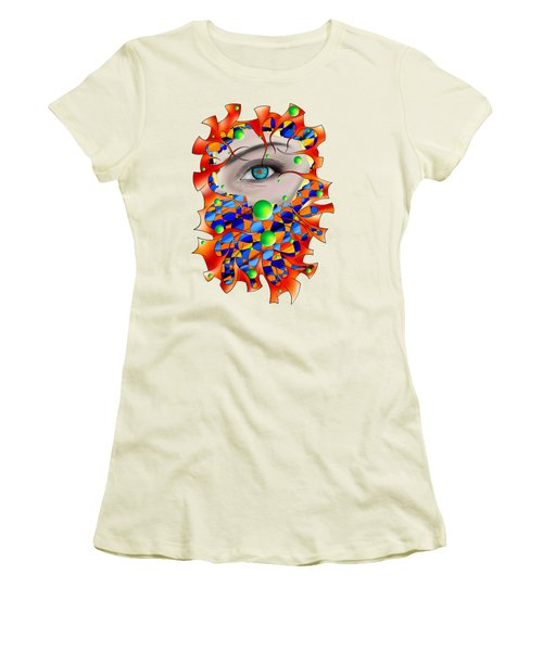 Abstract Digital Art - Delaneo V3 Women's T-Shirt (Athletic Fit)