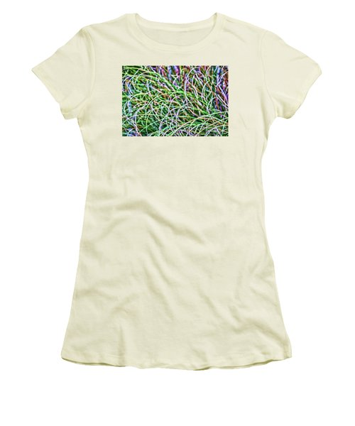 Abstract Grass Women's T-Shirt (Athletic Fit)