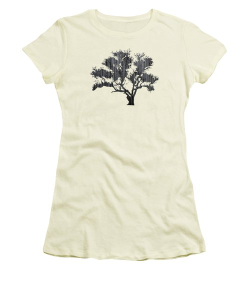 Abstract Gray Tree Women's T-Shirt (Athletic Fit)