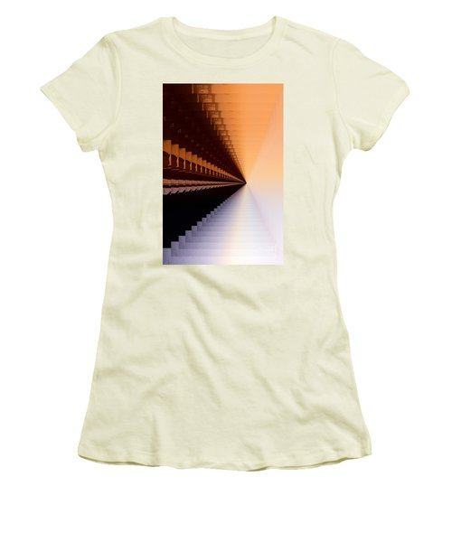 Abstract Industrial Sunrise Women's T-Shirt (Athletic Fit)